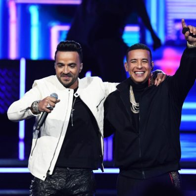 NEW YORK, NY - JANUARY 28: Recording artists Luis Fonsi (L) and Daddy Yankee perform onstage during the 60th Annual GRAMMY Awards at Madison Square Garden on January 28, 2018 in New York City. (Photo by Kevin Winter/Getty Images for NARAS)